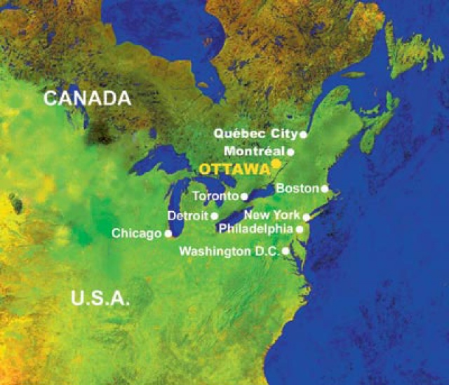 Ottawa and region ottawa on the north american map other nearest major cities to ottawa gumiabroncs Gallery